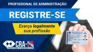 O registro profissional junto ao Conselho Regional de Administração é uma exigência legal para a atuação na área da Administração, conforme disposições da Lei 4.769/65.